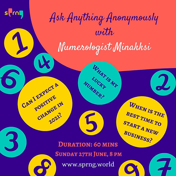 Ask Anything Anonymously with Numerologist Minakksi
