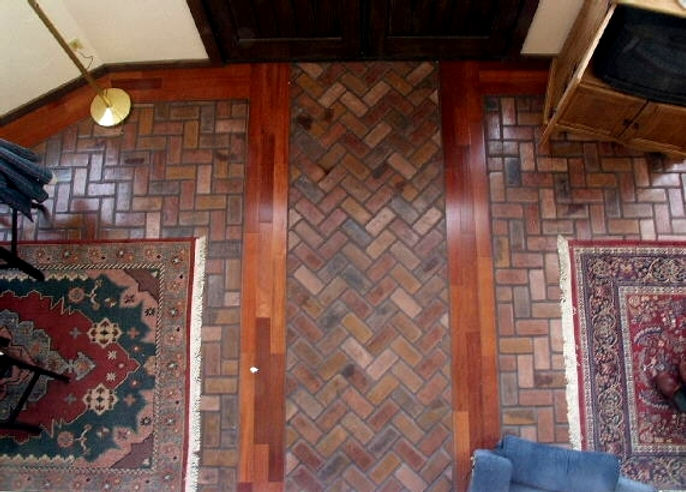 Herringbone Charleston Brick Floor from