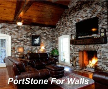 Thin Brick For Wall And Floors Portstone Mfg Corp