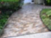 Front brick walkway.  Thin brick on an entry way. Autumn Brown brick color. Brick flooring. Brick floors. Thin brick on a side walk.