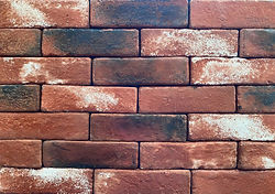 Used Red Brick Color. PortStone Thin Brick. Thin bricks for use on a wall.