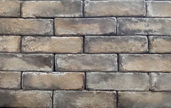 Brunished Pewter Brick Color.  Thin brick for walls or floors.