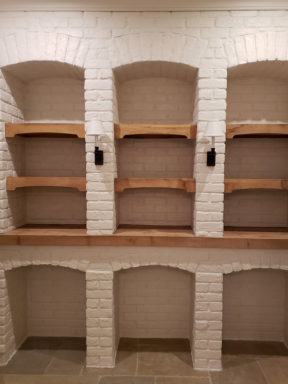 PortStone Painted Brick in a Wine Cellar