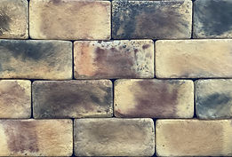 Country Mix Brick Color. Brick size is 4X8.  Thin concrete brick for use on floors or walls.