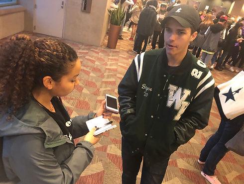 Sylvia interviews make high school stude