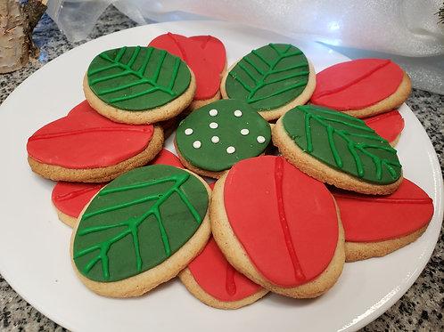 Original & Gluten-Free Sugar Cookie Poinsetta