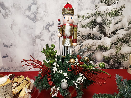Gold Nutcracker with Scepter