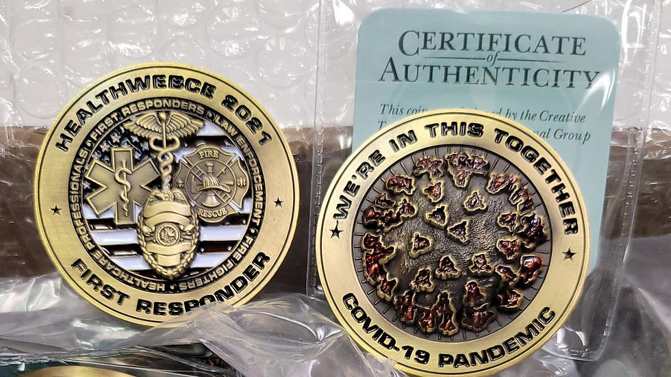 HealthWebCE COVID19 First Responder 2021 Collectors Coin