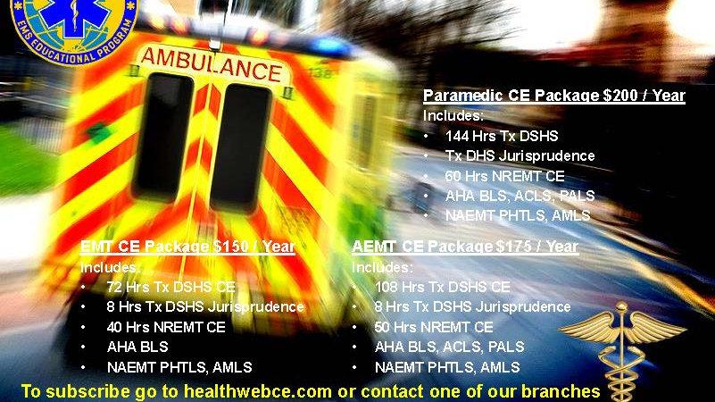 Paramedic CE Subscription Plan