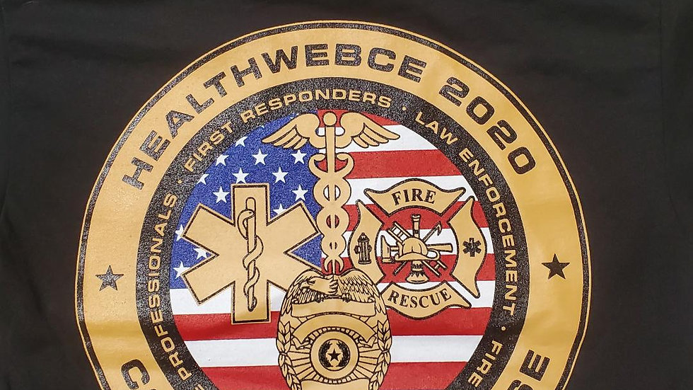 HealthWebCE COVID19 First Responder T-Shirt & Coin Combo