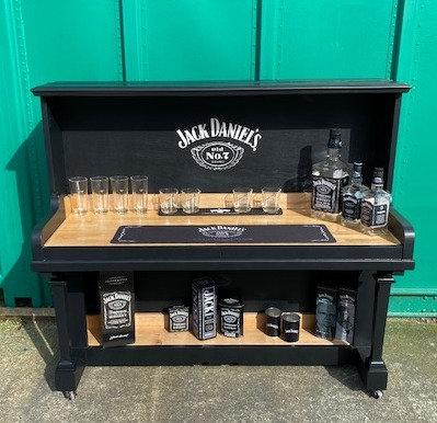 Upcycled Jack Daniel's Piano Bar