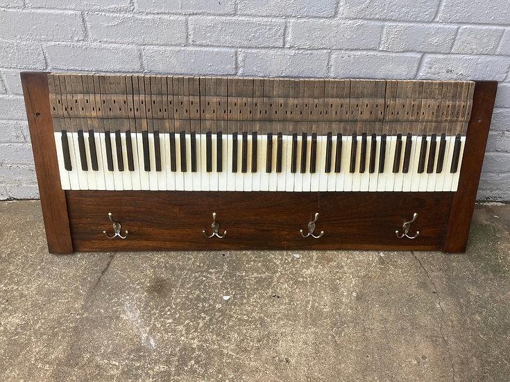 Upcycled Piano Keys Coat Rack.