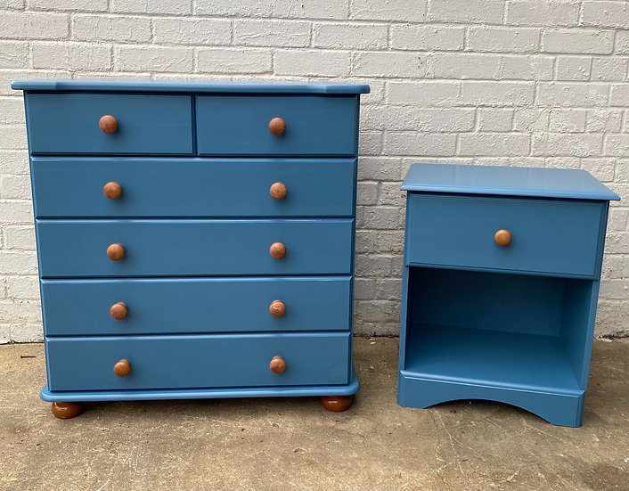 2 Piece Bedside Cabinet and Drawer Unit