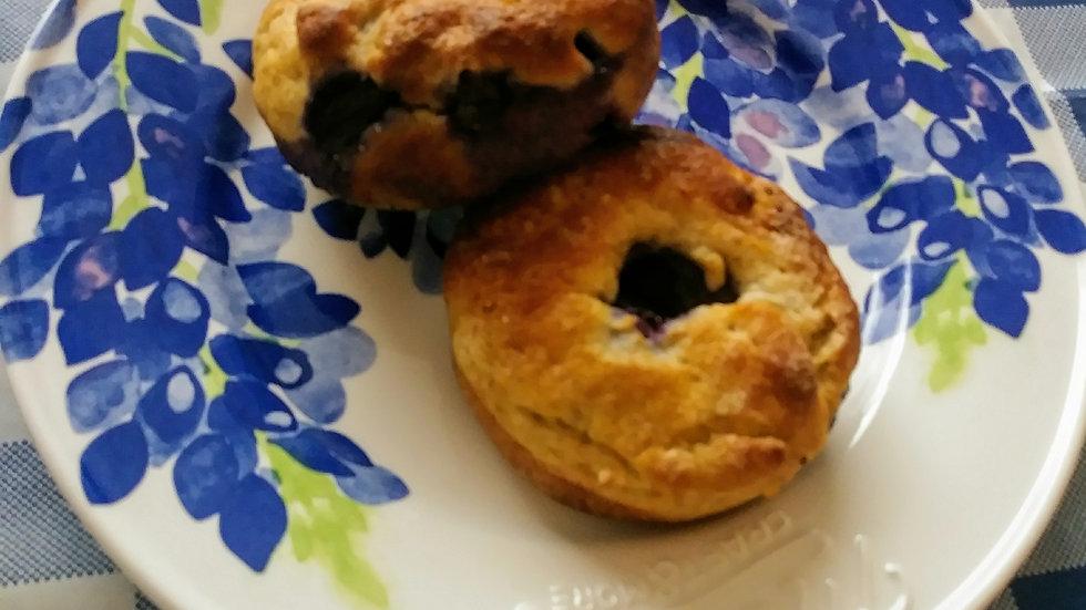 Keto, Gluten Free, Paleo Bluberry Bagels 1 doz