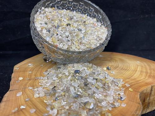 1kg Gold Rutilated Quartz Crystal Sand