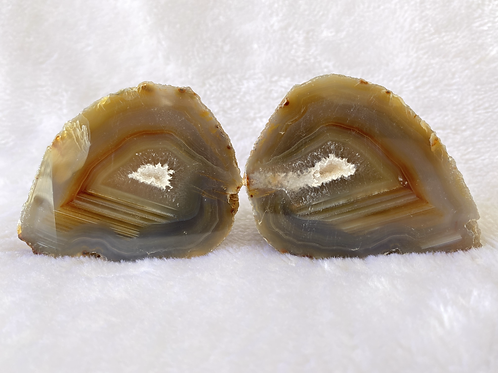 Polished Agate Pair