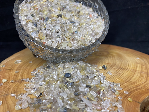 500g Gold Rutilated Quartz Crystal Sand