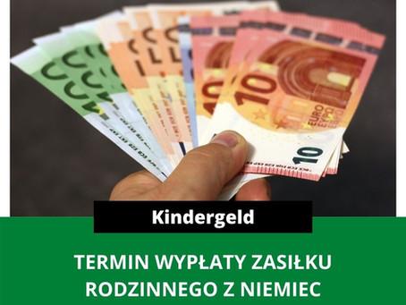 TERMINY WYPŁAT KINDERGELD - PAŹDZIERNIK 2020