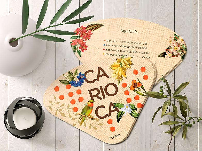 Ventarola da Linha Rio de Carnaval para Papel Craft