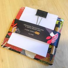 Bloco binder Final de Ano para Papel Craft