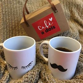 Kit Café a Dois para Papel Craft