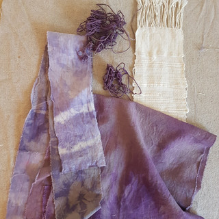 Logwood and mulberry dyes