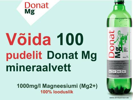 Võida 100 pudelit Donat Mg mineraalvett