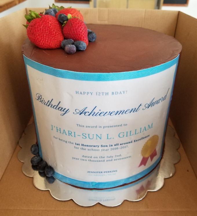GK Birthday Achievement Cake