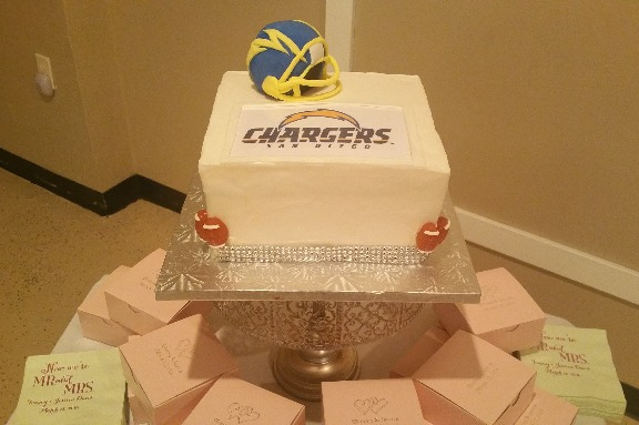GK Chargers Cake