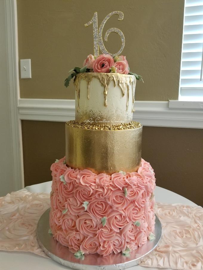 GK Sweet Sixteen Birthday Cake