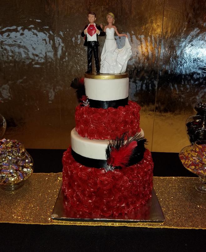 GK Superman Wedding Cake