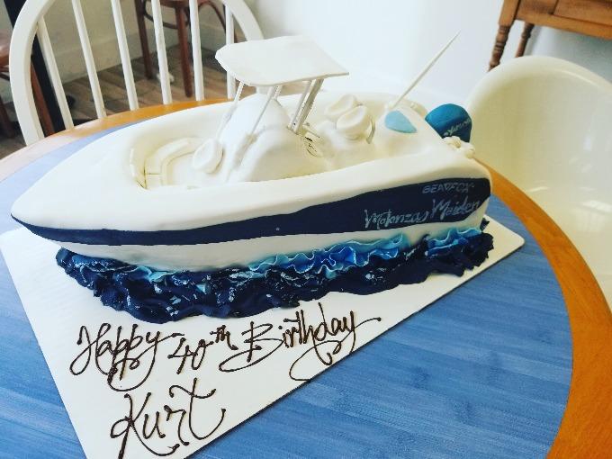 GK Boat Birthday Cake