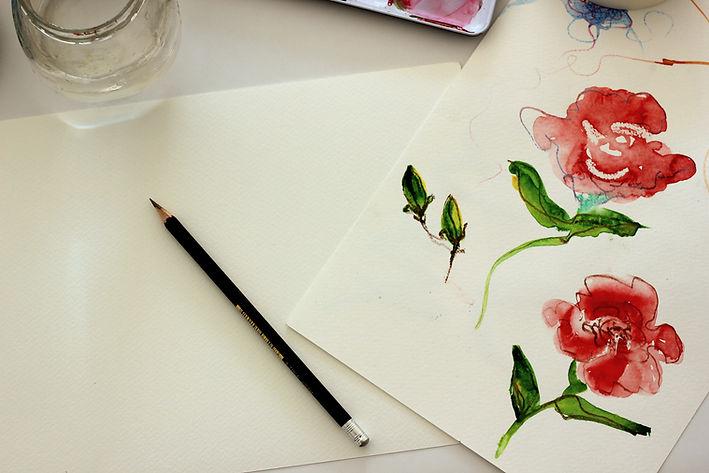 Beginners' watercolour workshop in Sydne