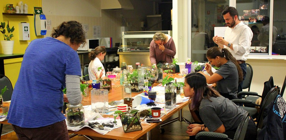 Terrarium workshops are a great idea for a Hen's party