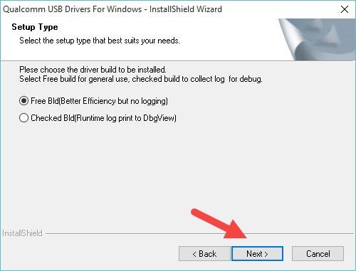 Quallcomm USB driver for window