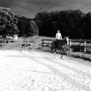 My girl riding.