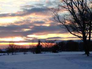 January Sunset – a sight to behold.