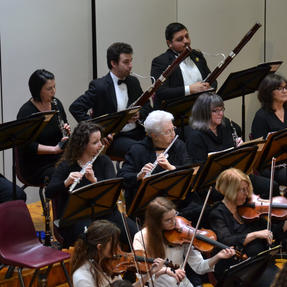 Performing with the Quincy Symphony. February, 2020