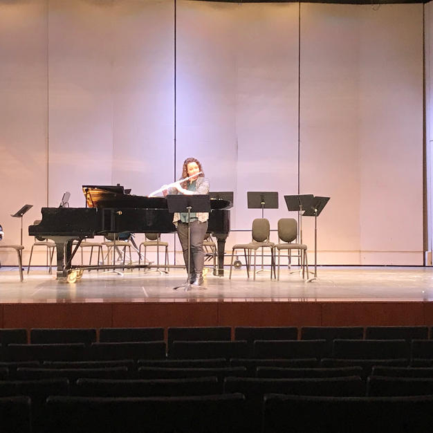 Solo performance as Flute Faculty at Graceland University's Woodwind and Brass Day. December, 2018