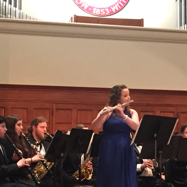 Soloing with the Monmouth College Wind Ensemble. May, 2015