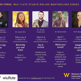 """Rose was invited to give her """"Navigating the Portfolio Career"""" presentation at Western Illinois University.  March, 2021"""