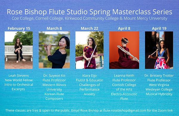 Rose Bishop Flute Studio Spring Mastercl