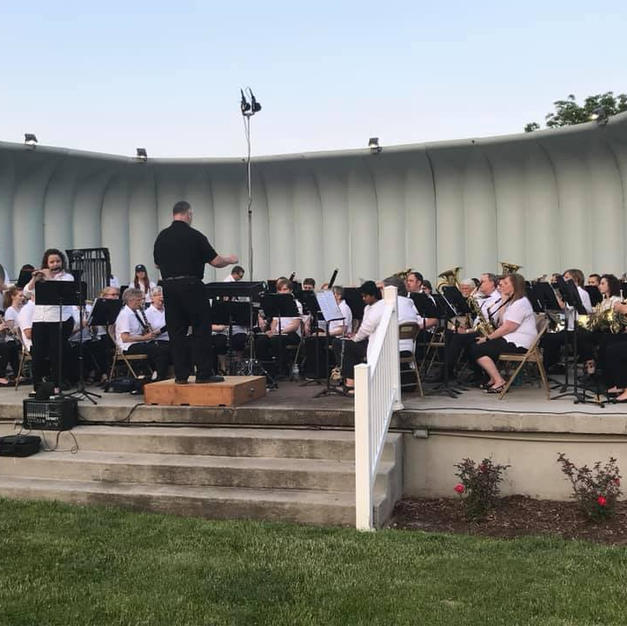 Soloing with the Burlington Municipal Band. June, 2019