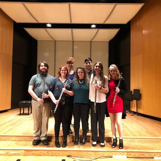 The Cornell College Flute Ensemble Studio Recital. December, 2019