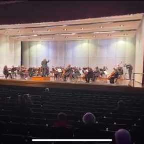 Quincy Symphony Orchestra's first performance with a live audience since the pandemic. April, 2021