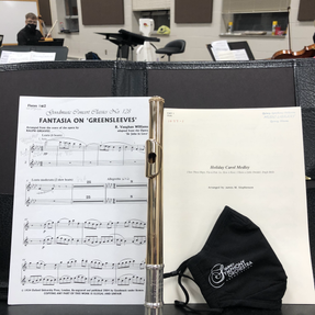 First in-person rehearsal since the pandemic began, Quincy Symphony. December, 2021