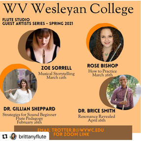 Masterclass at West Virginia Wesleyan College. March, 2021