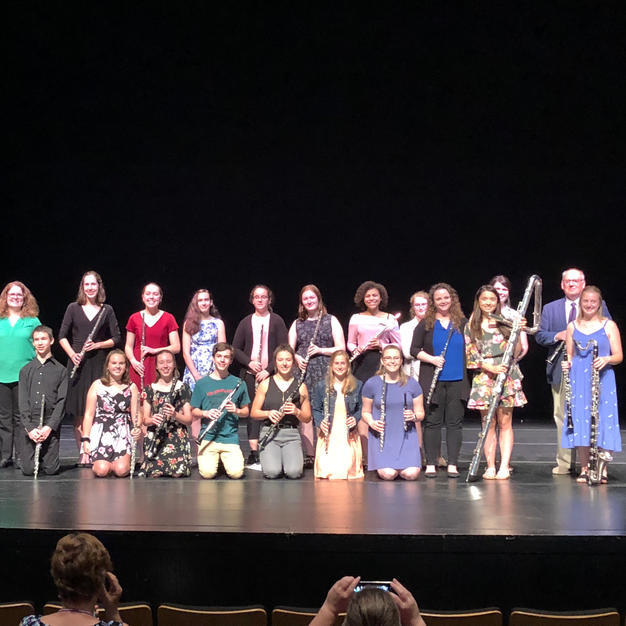 Faculty and students of the Cornell College Summer Flute & Clarinet Camp. June, 2019