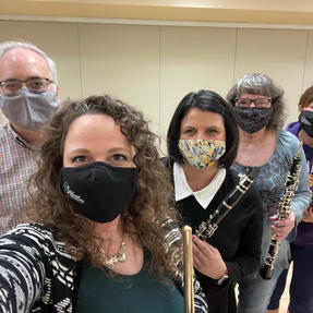 Quincy Symphony Orchestra's Woodwind Quintet. March, 2021