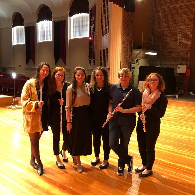 The Coe College Flute Ensemble. March, 2020
